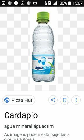 Vendo garrafa de água mineral 70 centavos a unidade