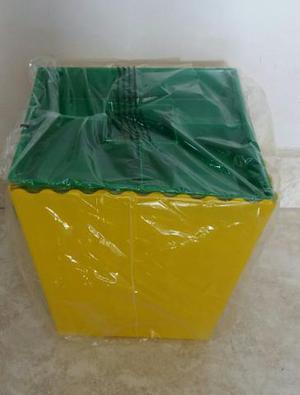 Bowm de pipoca e porta petisco verde e amarelo novo embalado