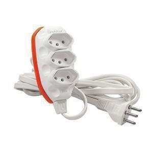 Extensão 5 metros plug três entradas e saída 10 amperes 3