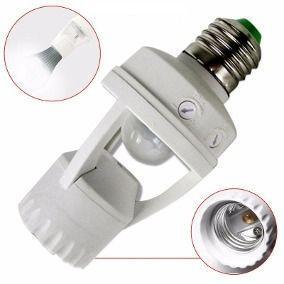 Sensor de presença soquete e27 lâmpada iluminação ate