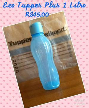 Tupper garrafa 1l plus azul
