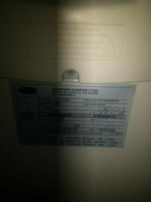 Vendo ar condicionado carrier 18.000btus!!!