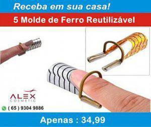 Alex cosmetic) 5 molde de ferro reutilizável