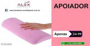 Alex cosmetic) apoio para mãos - ideal para salões de