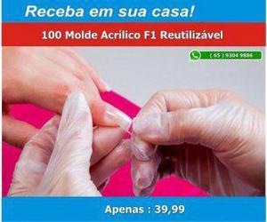 Alex cosmetic) molde f1 acrílico reutilizável