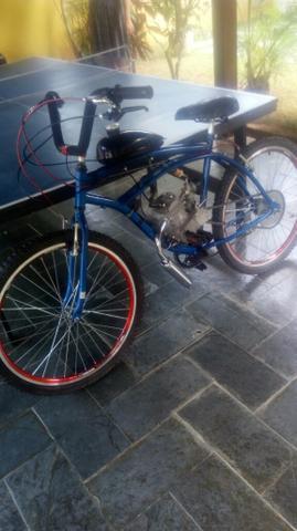Bicicleta motorizada show 80cc a top de todas eletrica