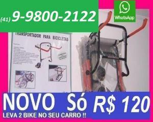 Novo suporte leve 2 bicicleta caloi no carro só 120 ou