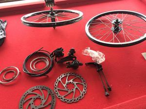 Peças/ conjunto para freio a disco + roda aro 20