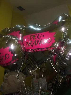 Balões personalizados látex e metalizados