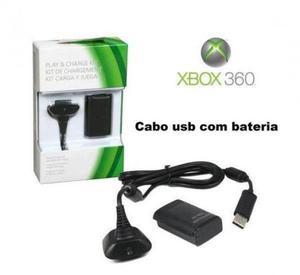 Bateria e cabo (controle xbox 360)