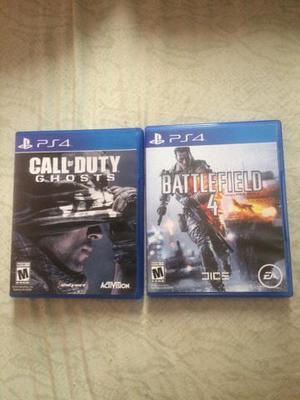 Call of duty ghosts e battlefield 4 de playstation 4!!!!!!