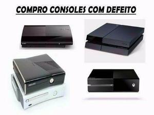 Compro consoles c/defeito ps1 ps2 ps3 ps4 xbox 360