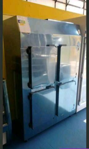 Geladeira comercial inox 4 portas - refrigerador industrial