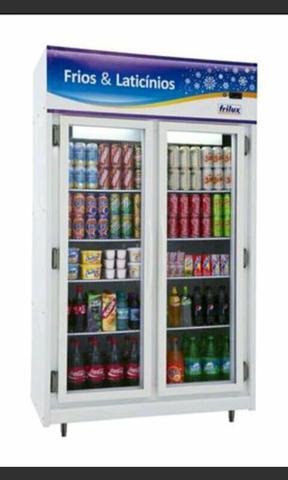 Geladeira expositora 2 portas* geladeira auto serviço