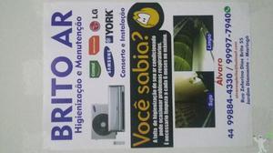 Higienização, manutenção e instalação ar condicionado