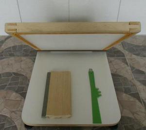 Kit serigrafia mesa plana+tela+rodo+espatura