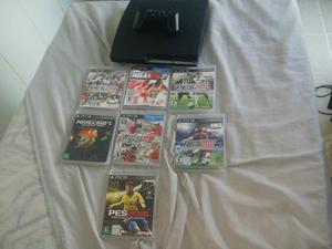 Playstation 3 modelo cech-2511a com 7 jogos e 5 jogos na