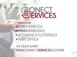 Soluções para rede wireless, óptica e cabeada.