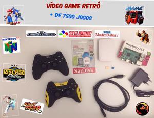 Vídeo game retrô multijogos raspberry pi3 32gb 7500 jogos