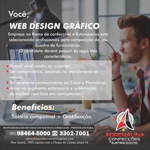 Web design gráfico e atendente de vendas