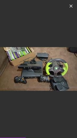 Xbox 360 completo kinect + volante