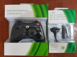Xbox 360 (sem fio) + 1 kit bateria recarregável