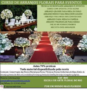 Curso de arranjos florais de eventos