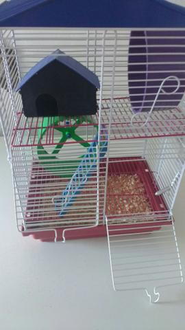 Gaiola dois andares para hamster