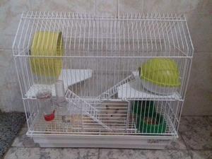 Gaiola de hamster(com hamster)+bolinha