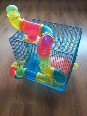 Gaiola grande para hamster - com acessórios