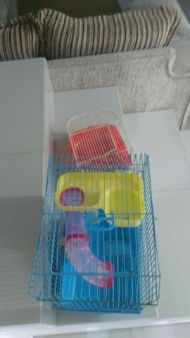 Gaiola para hamster,viveiro em palhoça