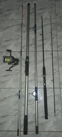 Kit vara de pesca e molinete