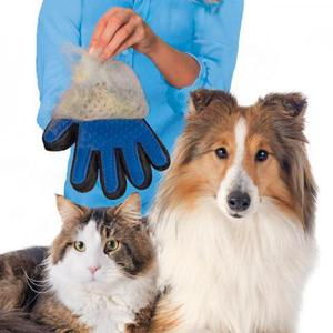Luva escova nano magnética tira pelos dos pets cães e