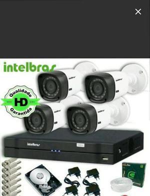 Kit cftv 4 cam intelbras 720p