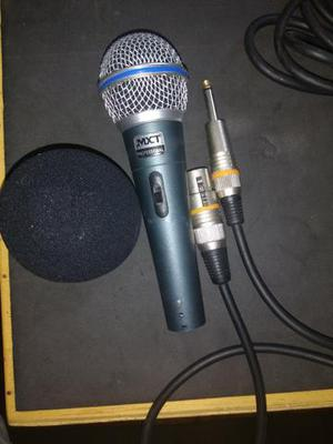 Microfone profissional + cabo 15 mts + espuma p/ microfone