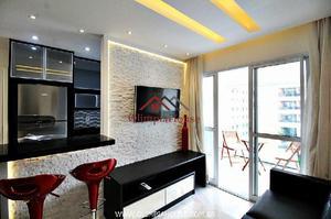 Apartamento com 41m² mobiliado e decorado para locação