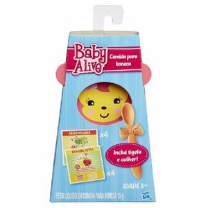 Baby alive refil comida + tigela e colher