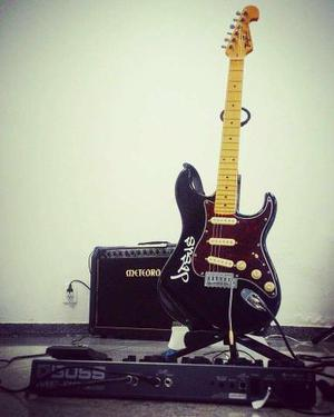 Guitarra, pedal, guitar link