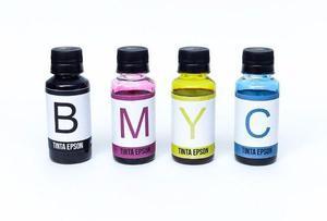 Tinta epson kit com as 4 cores para impressoras ecotanque