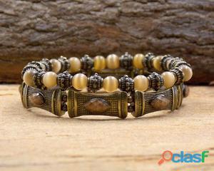 Conjunto kit mix de pulseiras ouro velho bijuterias