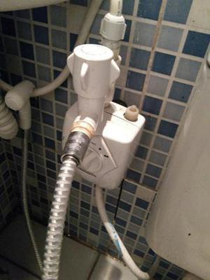 Aquecedor de água para pia de banheiro com ducha higiênica