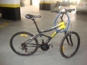 Bicicleta caloi max front aro 24 21 marchas mtb - preto