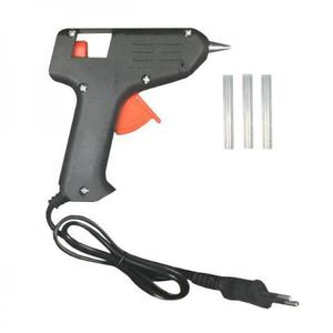 Pistola aplicadora de cola quente 10w +3 bastões silicone
