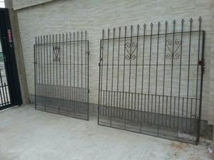 Portao de ferro galvanizado