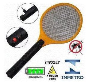 Raquete eletrônica mata mosquito kit com 4