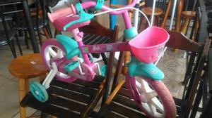 Bicicleta infantil barbie caloi aro 12