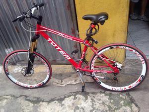 Bicicleta totem top, freio hidráulico
