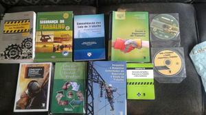 Coleção segurança trabalho 8 livros e 2 cds zap98543-6963
