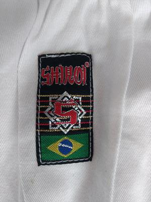 Kimono shiroi a2 reforçado branco + faixa branca shiroi