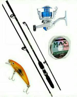 Kit de pesca com 4 itens